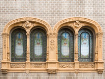 Art Nouveau windows Stock Image