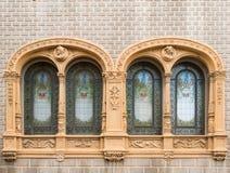Art Nouveau windows Stock Image