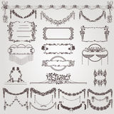 Art nouveau wreath banner label Stock Image
