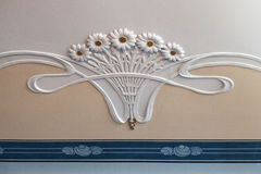 Art Noveau ceiling ornament Stock Photo