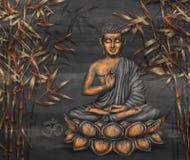 Art numérique se reposant d'or de Bouddha photo stock