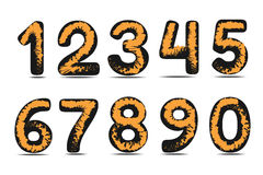 Art numbers  on white background Royalty Free Stock Photo