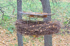 Art object is a crow`s nest. Royalty Free Stock Photos