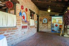 Art object display on Tohono Chul courtyard, Tucson, Arizona Stock Images