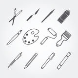 Art object of icons set Royalty Free Stock Images