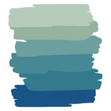Art object palette blue. Abstract vector background. Six shades of color Royalty Free Stock Photo