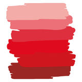 Art object palette red. Abstract vector background. Six shades of color Stock Photos