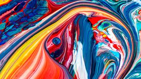 Art Of Acrylic Color Painting Royalty Free Stock Images
