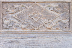 Art Of Carving On Wooden Wall Royalty Free Stock Photos