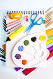 Art and office supplies Stock Images