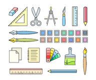Art and office supplies Royalty Free Stock Image