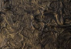 Art oil painting. Black gold painting. Abstraction. Background. Texture. Art oil painting. Black gold painting. Abstraction. Beautiful texture royalty free stock photo