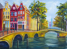 Art Oil-Painting Picture Amsterdam Arkivfoto