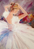 Art Oil-Painting Picture Ballerina Images stock