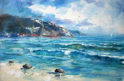 Art Oil-Painting Picture Sea Stock Photos