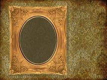 Art old frame on pattern paper. Art frame on pattern paper Royalty Free Stock Image