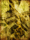Art old town background. Art old town card background Royalty Free Stock Photography