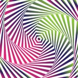 Art optique Fond d'illusion optique Photo stock