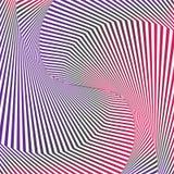 Art optique Fond d'illusion optique Fond géométrique abstrait moderne Modèle de vecteur de gradient illustration stock