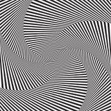 Art optique Fond d'illusion optique Fond géométrique moderne Configuration monochrome de vecteur Photographie stock libre de droits