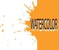 Art orange d'aquarelle de graphiques Photo libre de droits
