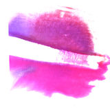 Art Orange, violet watercolor ink paint blob Royalty Free Stock Images
