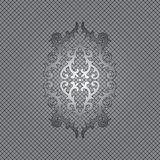 Art ornament. Frame, made in the gray scale stock illustration