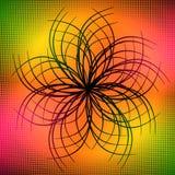 Art ornate flower design Stock Photography