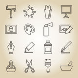 Art outline icon Royalty Free Stock Image