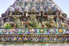 Art on pagoda. In Thai temple stock photo