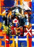 Art and paint and abstract and color. Abstract art and paint and color Stock Illustration