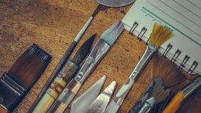 Art Paint Brush Tool Set imágenes de archivo libres de regalías