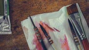 Art Paint Brush Tool Set foto de archivo libre de regalías