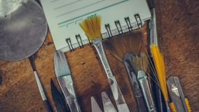 Art Paint Brushes Tool Set royalty free stock images
