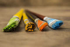 Art paint brushes Royalty Free Stock Images