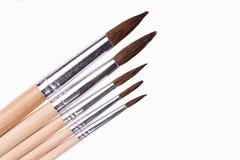 Art paint brushes isolated on  on white background Royalty Free Stock Photos