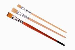 Art paint brushes isolated on  on white background Royalty Free Stock Images