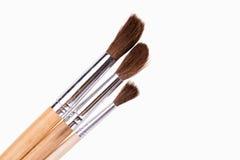 Art paint brushes isolated on  on white background Stock Images