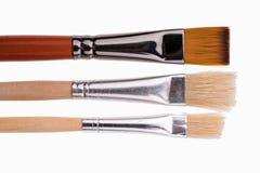 Art paint brushes isolated on  on white background Stock Photos