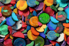 Art Paint. Concept background as a group of old used water color pucks as an arts and crafts school and creative education idea for children and students to Royalty Free Stock Photos