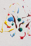 Art paint drops on canvas Stock Images