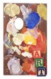 Art paint palette Stock Image