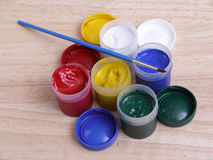 Art paint tubes Royalty Free Stock Photography
