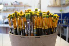 Art Paintbrushes Royaltyfri Bild