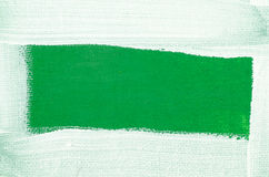 Art painted border on green background Stock Image