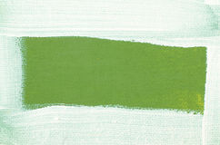 Art painted border on green background Royalty Free Stock Images