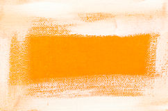 Art painted border on orange  background Royalty Free Stock Photography