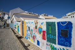 Art painted brick walls in burgau Stock Photo