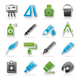 Art and painter icons Royalty Free Stock Images
