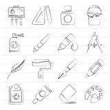 Art and painter icons Royalty Free Stock Photo